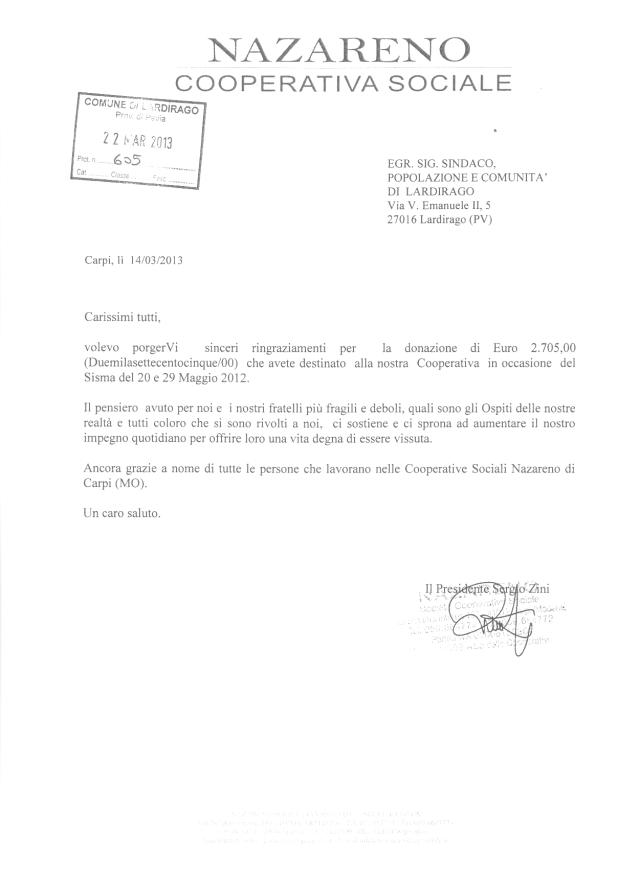 2013 03 27 lettera ringraziamento