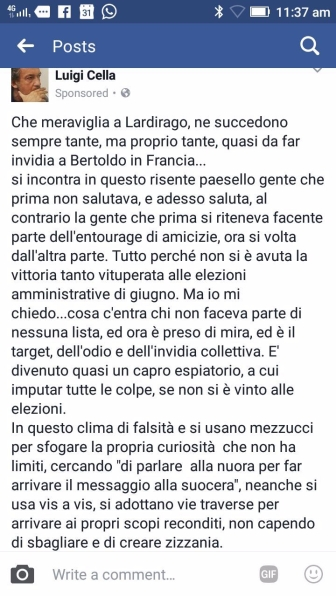 2017 07 26 Luigi Cella su FB